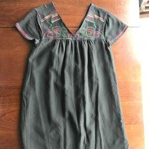 Madewell Black Stitching Dress